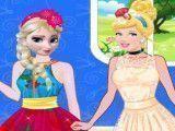 Elsa e Cinderela roupas de modelos