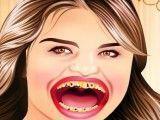 Celebridade Selena Gomez no dentista