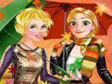 Rapunzel e Cinderela moda inverno e maquiar