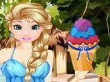 Decoração do sorvete da Elsa
