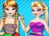 Decorar sapatos Anna e Elsa