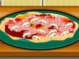 Fazer receita de pizza de presunto