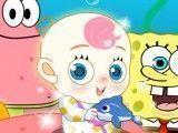Patrick e Bob Esponja cuidados do bebê