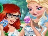 Princesas roupas de páscoa e decoração