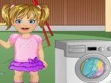 Bebê lavanderia