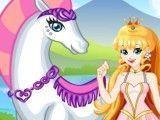 Princesa e cavalo na moda
