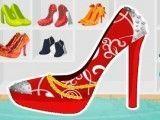 Sapato de salto decorar
