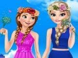 Anna e Elsa no jardim moda