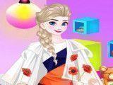 Vestir roupas da Elsa shopping
