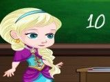 Elsa e Anna na escola