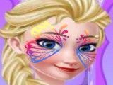 Elsa pintura do rosto