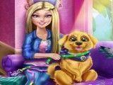 Barbie e o cachorro limpar casa