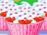 Dora fazer cupcakes de morango