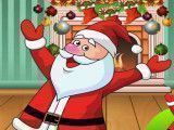 Papai Noel limpar casa
