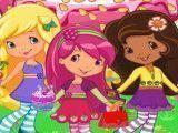 Moranguinho e amigas decoração dos doces