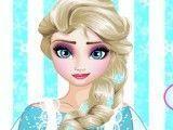 Elsa lavar pratos e copos