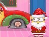 Lavar carro de natal do Minion