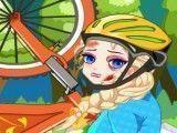 Elsa cuidar dos machucados de bicicleta
