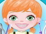 Bebê Anna cuidar dos dentes