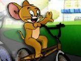 Corrida de bicicleta Tom e Jerry