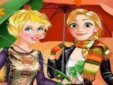 Cinderela e Rapunzel moda outono