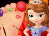 Princesa Sofia cuidar do pé