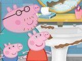 Limpar banheiro Peppa Pig