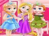 Bebês princesas limpar quarto