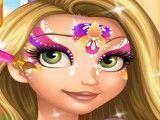 Pintar rosto da Rapunzel