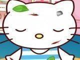 Hello Kitty cuidar do ferimentos