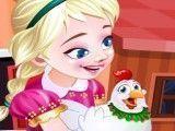 Elsa cuidar das galinhas
