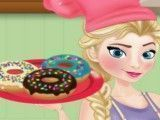 Elsa preparar donuts