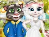 Tom e Angela roupas de casamento