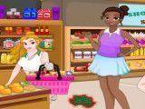 Princesas limpar supermercado