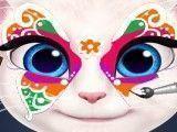 Pintar rosto da gata Angela