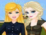 Elsa e Barbie moda