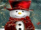 Quebra cabeça boneco de neve