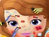 Cuidar do rosto da Sofia