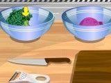 Fazer receita de salada de brócolis com tomate