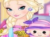Vestir Elsa e boneca