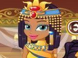 Menina do Egito no spa