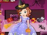 Princesa Sofia limpar quarto do halloween