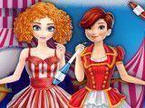 Elsa e Anna no circo moda