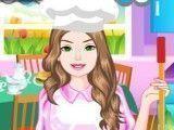 Barbie limpar cozinha