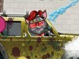 Gato Tom lavar carro