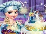 Casamento decoração do bolo da Elsa