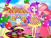 Vestir menina dos doces