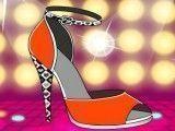 Sapato de salto alto decorar