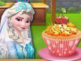 Elsa noiva fazer cupcakes
