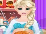 Elsa grávida fazer hambúrguer